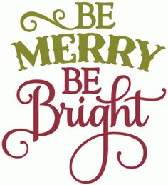 Silhouette Design Store - View Design #52540: be merry be bright