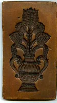 This is a Cookie Board Thistle butter mold. Of course I have no intension of using it on butter - I just like it