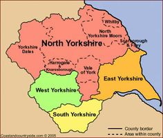 Millions of Yorkshire Records Added Online - Genealogy & History News Map Of Yorkshire, Yorkshire County, South Yorkshire, Yorkshire England, Yorkshire Dales, Kingston Upon Hull, Northern England, Yorkshire Terrier Puppies, North York