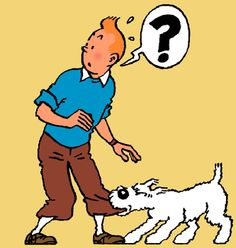 Tin Tin & Snowy...this is the dog we named our dog after...but the original name of the dog was MILOU  : )