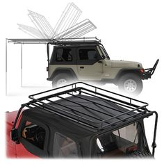 Olympic 4x4 Products Dave's Rack in Rubicon Black for 87-95 Jeep® Wrangler YJ