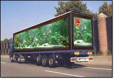 Aquarium truck advertising