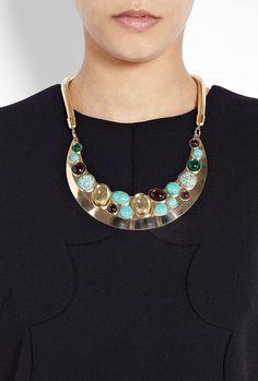 Multi Stone Bib Necklace by Anton Heunis
