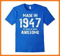 Made In 1947 70th Birthday 70 Years Old T-Shirt Herren, Größe XL Königsblau (*Partner Link)