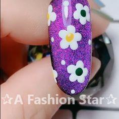 A Fashion Star?A Fashion Star? : Floral nail art tutorial A Fashion Star? Cute Nail Art, Nail Art Diy, Diy Nails, Cute Nails, New Nail Art Design, Nail Art Designs, Floral Nail Art, Nail Art Videos, Nail Decorations