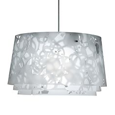 The whimsical Collage 600 Suspension Lamp was created by Louise Campbell for renowned design company Louis Poulsen.The Louis Poulsen label has been creating des Scandinavian Lighting, Ceiling Lamp, Louis Poulsen, Lamp, Ceiling Lights, Interior Lighting, Big Chandelier, Lamp Light, Scandinavian Style Interior