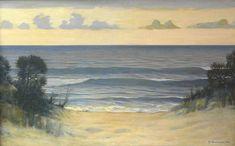 Max Nonnenbruch, Dünen am Strand 1914 Beautiful Paintings, Beautiful Images, Art Nouveau, Scenery, Painters, German, Google, Oil On Canvas, Landscape