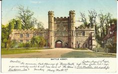 Battle Abbey  East Sussex England 1912 Antique by StarPower99, $3.00