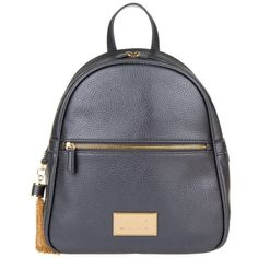 LIU JO Back Pack Gun Metal in grey, Shoulder Bags ($165) ❤ liked on Polyvore featuring bags, grey and liu jo bags