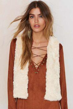 Solid Love Faux Fur Vest