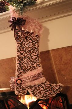 cowgirl boot stocking by Cutipiethis on Etsy