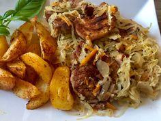 Karkówka pieczona w kapuście - Blog z apetytem Pork Dishes, Pulled Pork, Grilling, Food And Drink, Beef, Chicken, Dinner, Ethnic Recipes, Impreza