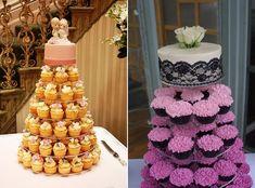 Cupcakes instead of a huge cake. Love Cupcakes, Wedding Cakes With Cupcakes, Unique Wedding Cakes, Cupcake Cakes, Cupcake Wedding, Cup Cakes, Mini Cakes, Wedding Ideas, Scroll Wedding Cake