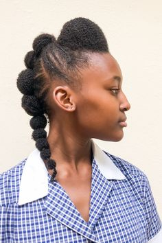 Back to school natural hairstyle