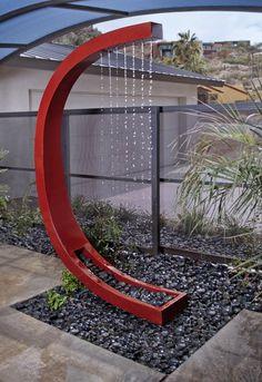 idée originale pour une douche piscine