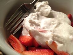 Strawberries & Coconut Cream  - I think I'd leave the sweetener out to keep it compliant. Strawberries are sweet enough.