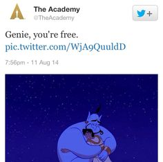 When the death of acclaimed comic actor Robin Williams was released and confirmed, The Academy of Motion Picture Arts and Sciences tweeted this in honor and remembrance of the late actor.