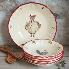 Jacques Pépin Collection Chickens Pasta Bowls, Set of 4 | Sur La Table