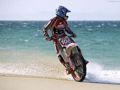 Ripping on the beach