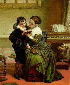 20 Paintings of children reading