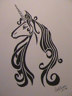 "I may or may not have contemplated a ""Last Unicorn"" tat. If I were to get one, this would be a fabulous rendering."