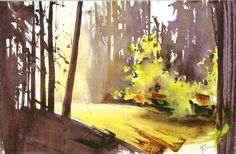 'Backlight', watercolor by Nadia Tognazzi