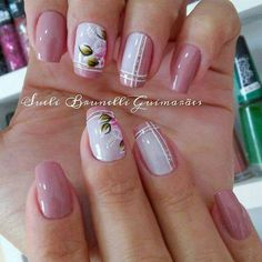 White Nail Designs, Nail Art Designs, White Nails, Pink Nails, Nail Designa, Finger, Spring Design, Flower Nails, Nail Arts