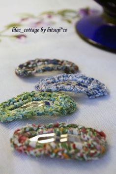 布で、縁編みパッチンピンの作り方|編み物|編み物・手芸・ソーイング