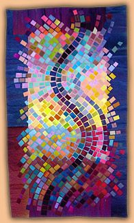 Anne Lullie: Workshops - Lectures--art quilts could do with paper mosaic pieces or paint chips