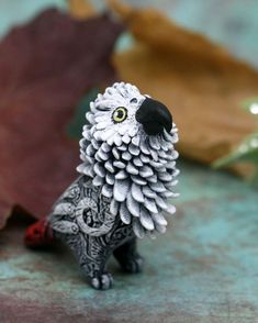 Bird Figurine Animal Sculpture by Evgeny Hontor, Totem polymer clay figures for Home decor, polymer clay animal for collecting. Painted and unpainted Animal Sculpture gifts for dragon lovers. Look at the best collection of 800+ miniatures of fantasy creatures, beasts and aliens
