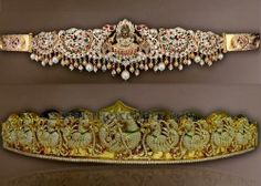 Jewellery Designs: Peacock Lakshmi Pachi Vaddanam Designs