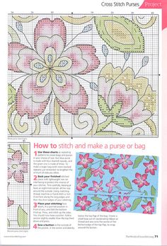 Cross Stitch World: Stitching style Flowers