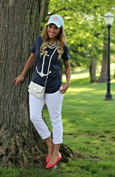 Old Navy White Jeans: 2 Ways @Donna Maywald Navy @Marley Medema Lilly