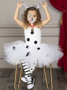 Halloween Tutu Dress, Halloween Costumes For Girls, Dog Costumes For Kids, Cute Girl Costumes, Halloween Customs, Children Costumes, Toddler Costumes, Disney Halloween, Halloween Makeup