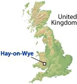 Where is Hay-on-Wye? South Wales