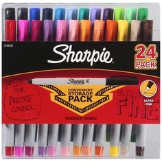 Sharpie Ultra Fine Point Permanent Marker Assorted Colors 24 ct by Sharpie (English Manual)