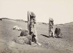 Colossi and sphynx at Wady Saboua (Nubia), 1857, tiré avant 1862 | Photographe : Francis Frith