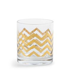 Gilded Old-Fashioned Glasses: Ive been on a mission to upgrade and add a dash of whimsy to my barware collection, and these chevron-bedecked double-old-fashioned glasses ($48 for four) fit the bill perfectly. These stunners will happily house everything from greyhounds to old fashioneds, and Ill be certain to break them out for the upcoming Mad Men season premiere as a nod to classic 60s style.  — Nicole Perry, assistant editor