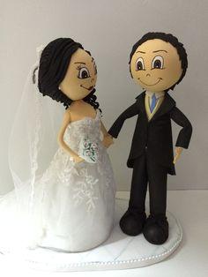 Fofuchos novios personalizados para regalo de boda.