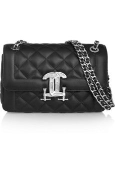 Moschino Quilted leather shoulder bag   NET-A-PORTER