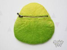ほわほわインコミニポーチ(黄色&緑)