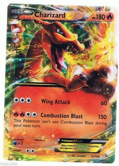 #Pokemon Card XY Flashfire Holo #Charizard EX 12/106 FREE COMBINED SHIP