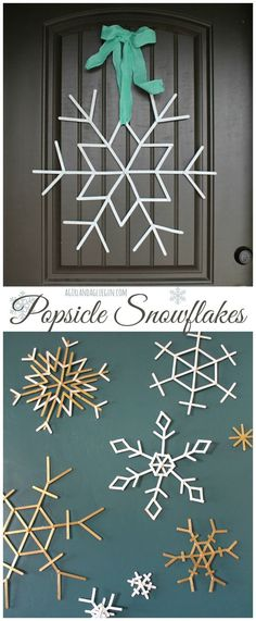 Popsicle stick snowflakes--cute and easy craft--and the possibilities are endless!