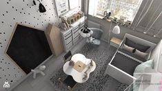 Pokoik trzyletniej Liwii - Mały pokój dziecka dla chłopca dla malucha, styl skandynawski - zdjęcie od Designbox Marta Bednarska-Małek