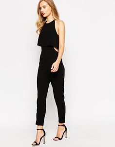 Image 1 of ASOS Jumpsuit With Double Layer Halter