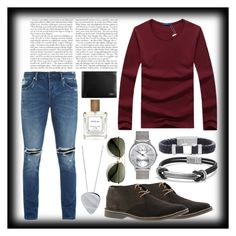 """""""Out for the weekend"""" by styleandexperienceco ❤ liked on Polyvore featuring Kenneth Cole Reaction, Neuw, David Yurman, Steve Madden, Edge Only, Tumi, men's fashion, menswear, casualoutfit and fashionset"""