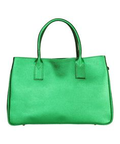 Take a look at this Verde Perugia Satchel by Made in Italia on #zulily today!