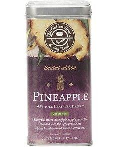 Pineapple Whole Leaf Green Tea - great iced, very slight taste of pineapple.