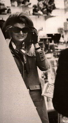 After her husband's death, sunglasses would become synonymous with Jackie's image. Little did people know, however, that her favourite reason for wearing them was because they allowed her to 'people watch' - @classiquecom