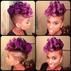Loving this cut/color combo! @latoyachenelle4340 looking gorgeous in VIVIDS Violet. #pravana